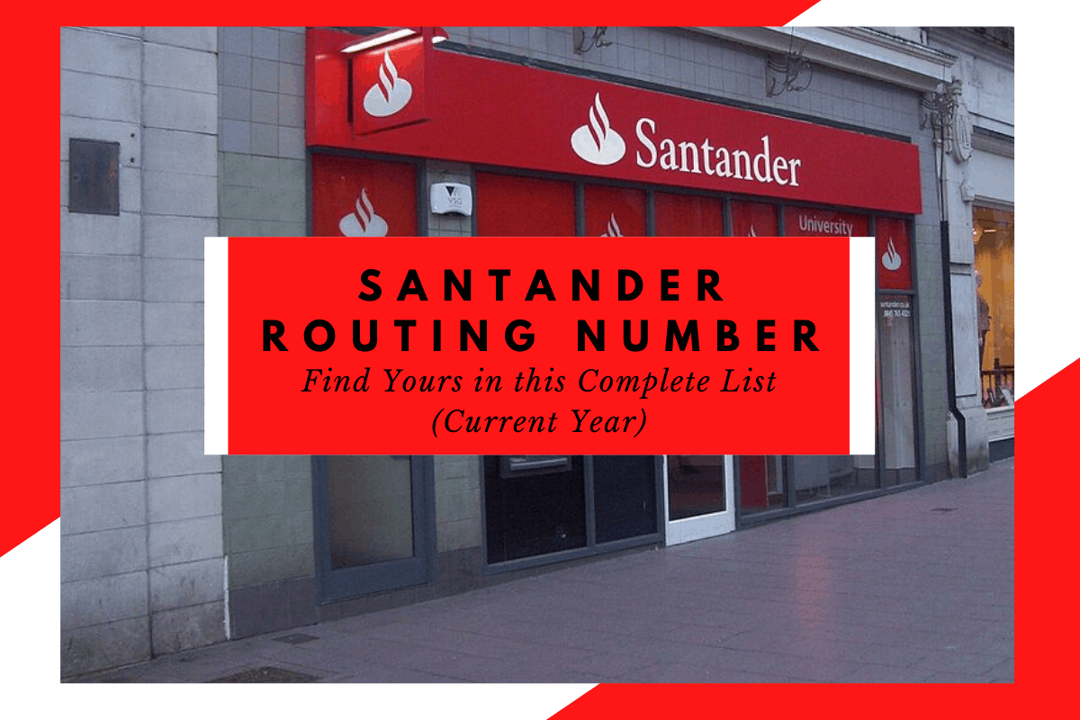 Santander Routing Number How Do You