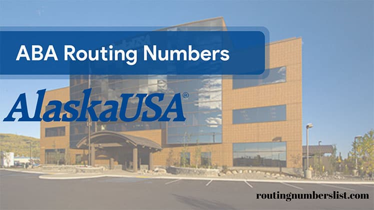 alaska usa routing number
