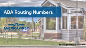 america first routing number