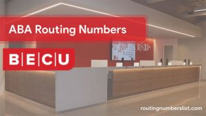 becu routing number for wire transfer and online banking