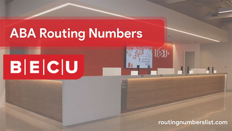 becu routingnumber for wire transfer and online banking