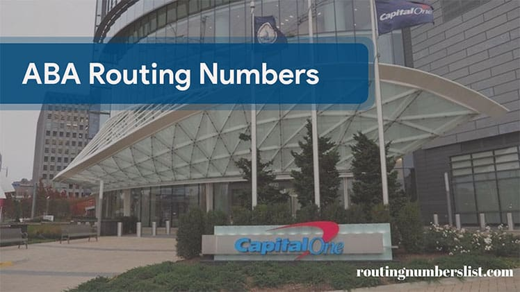 capital one routing number