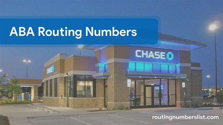 Chase routing transit number