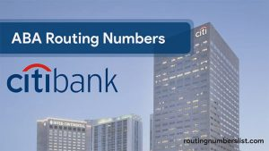 find citibank routing number by state