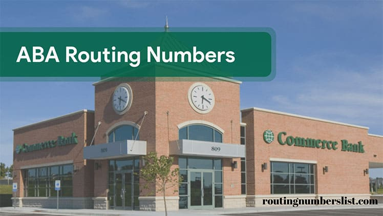 commerce bank routing number