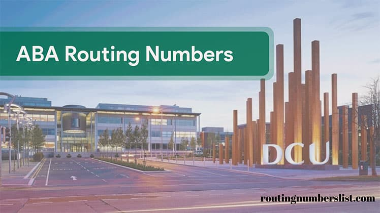 dcu routing number