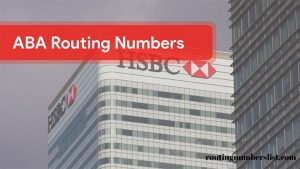 hsbc routing number