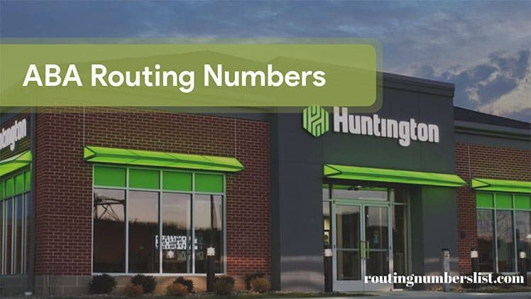 huntington routing number