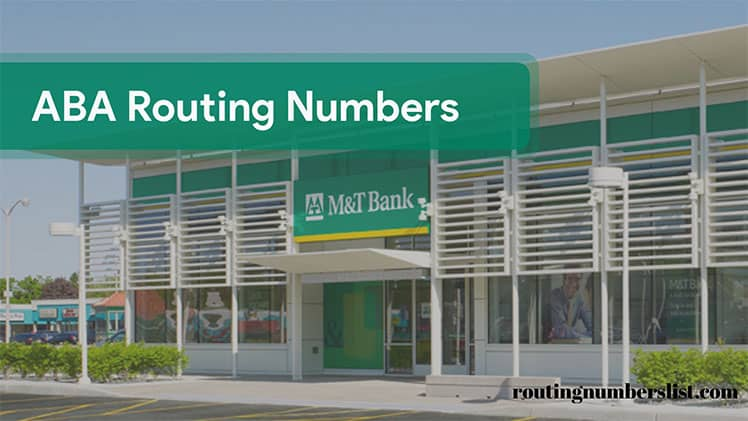 mt bank routing number