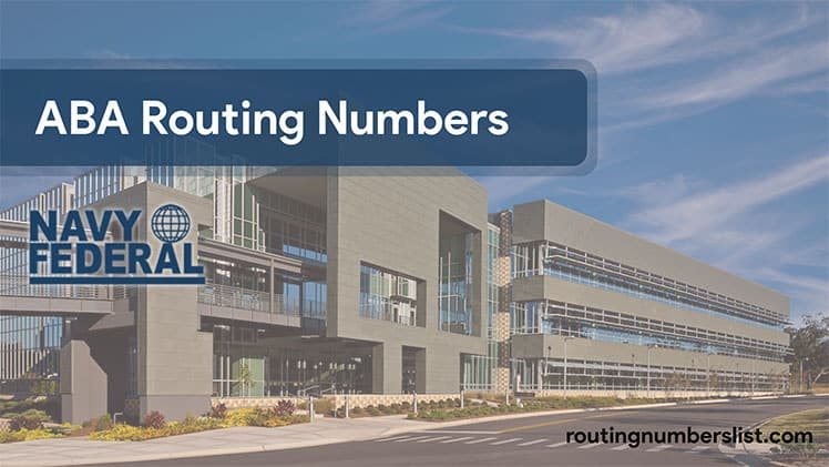 navy federal routing number - navy federal credit union