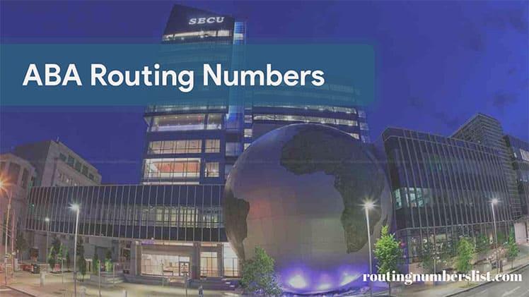 ncsecu routing number