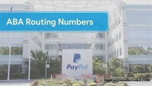 paypal routing number