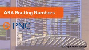 pnc routing number
