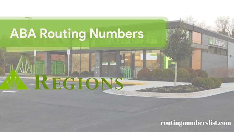 regions routingnumber