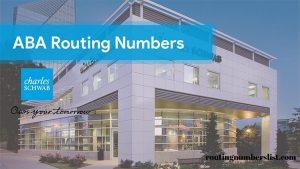 schwab routing number