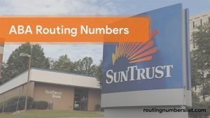 suntrust routing number
