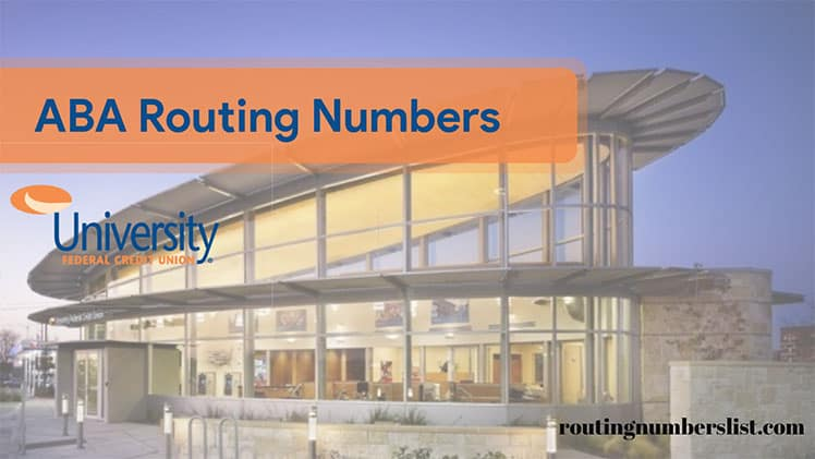 ufcu routing numbers