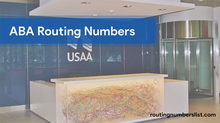USAA routing