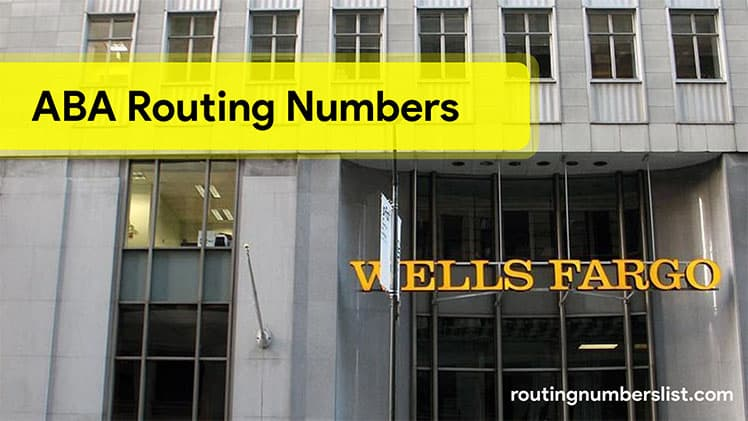 wells fargo routing number 2019