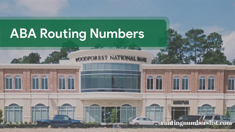 woodforest national bank routing number